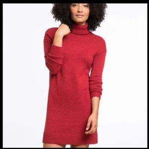 Marine Layer Red Turtleneck Sweater Dress Medium
